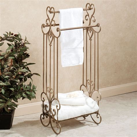gold towel rack aldabella satin gold bath towel rack stand