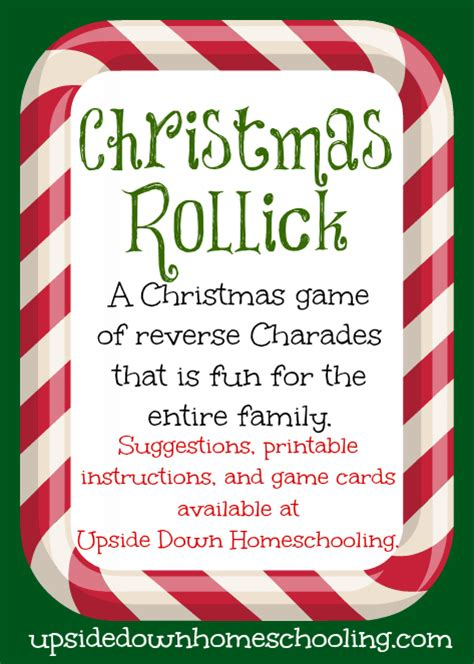 g is for games christmas rollick upside down homeschooling