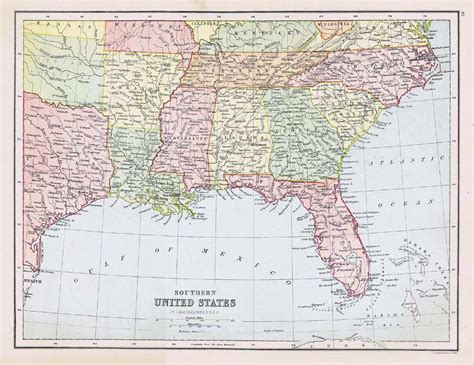 map louisiana alabama florida united states s louisiana florida alabama antique