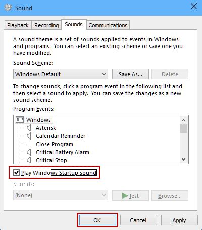 solved startup/welcome sound windows 10 forums