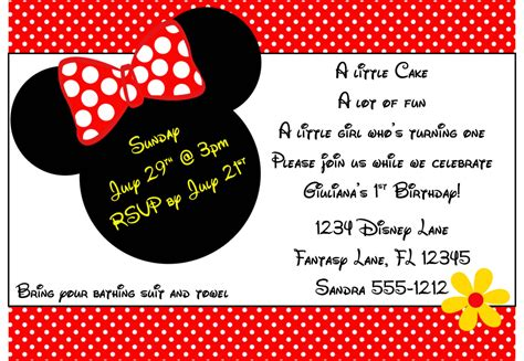 minnie mouse birthday invitation templates free minnie mouse invitations printable template best