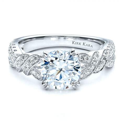 split shank engagement ring with matching wedding