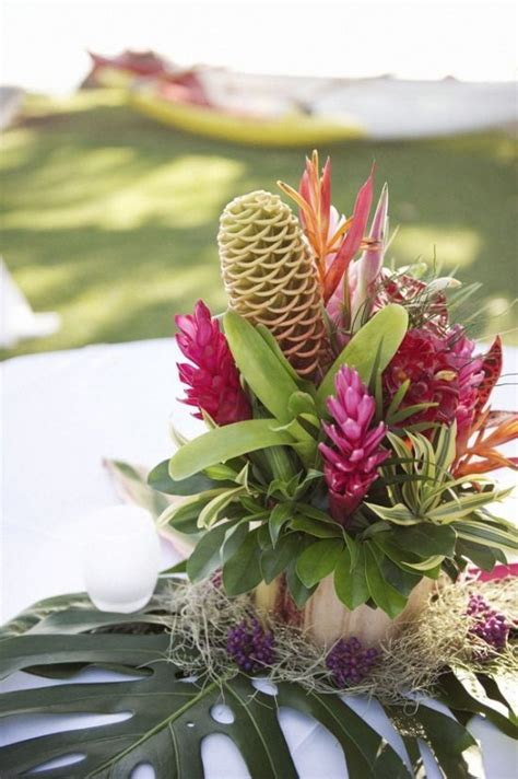 tropical floral centerpieces everything tropical