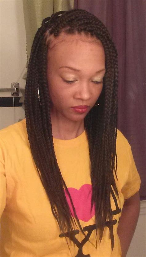 hairstyle with 2 shoulder braids best 25 box braids medium length ideas on pinterest