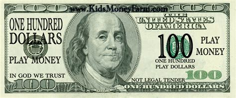 free printable fake play money print fake money for sheets of 1 00 bills click on the