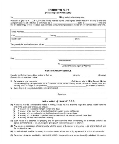 notice forms in pdf notice forms in pdf