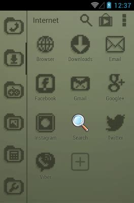 retro lcd android theme for smart launcher 2