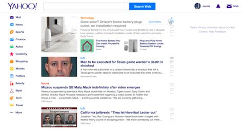 change yahoo mail page layout updated yahoo mail to compete with microsoft google