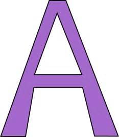 purple letter a clip purple letter a image