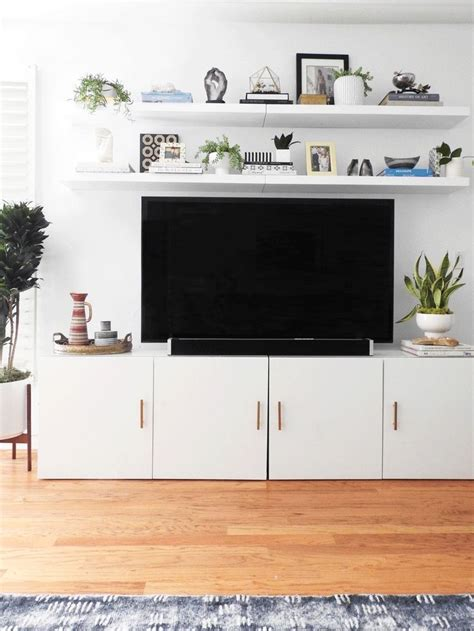 tv stand cabinet with drawers ikea besta tv stand hack with two lack shelves above