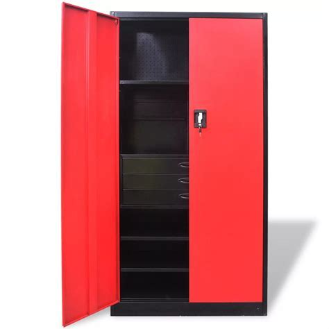 Metal Tool Storage Cabinet with Removable Tool Chest Black