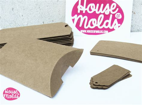 How To Make A Paper Jewelry Box - kraft paper simple blank jewelry packaging set pillow