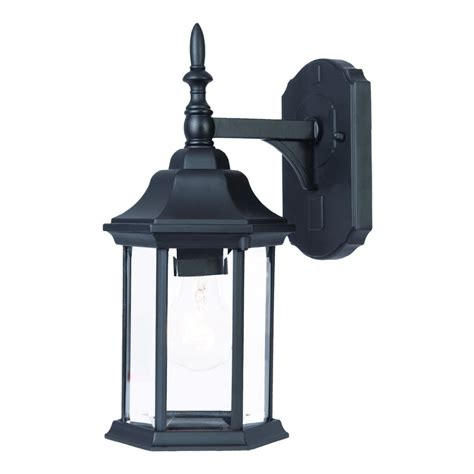 Craftsman Outdoor Light Shop Acclaim Lighting Craftsman 15 In H Matte Black Outdoor Wall Light At Lowes