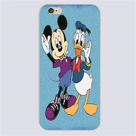 Iphone 7 Donald Duck Pattern Hardcase donald duck mickey mouse pattern printing phone cover for iphone 4 4 s 5 5 s 5 c 6