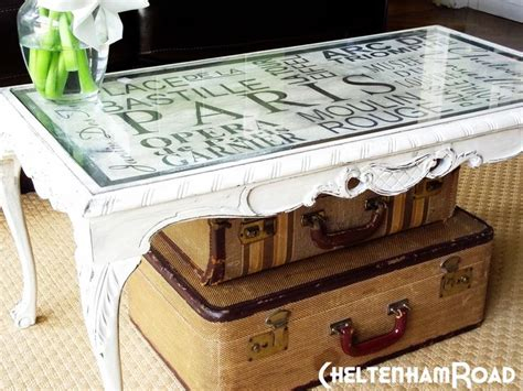 Decoupage Coffee Table - diy decoupage coffee table same as it never was