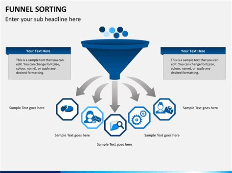 powerpoint template funnel funnel sorting powerpoint template sketchbubble