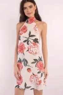 Id 1838 Flower Dress blush dress mock neck dress pink print dress shift dress 29 tobi us