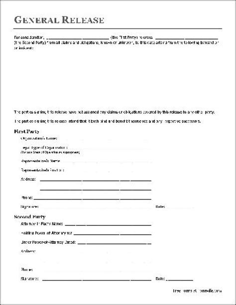 liability release form template free simple release of liability form free printable documents