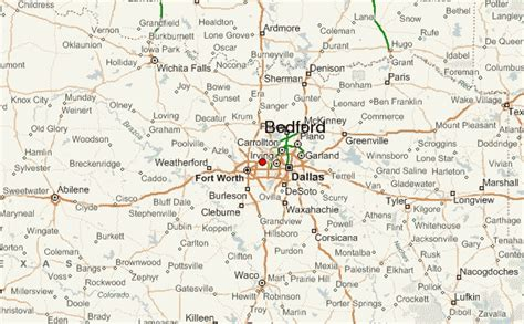 bedford texas map bedford texas location guide