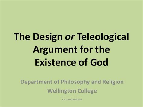 the god argument the powerpoint introducing the design argument