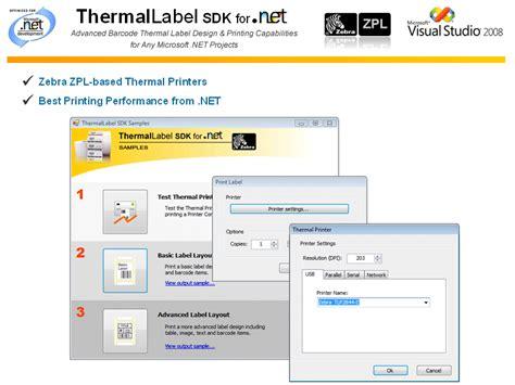 design zpl label thermallabel sdk for net
