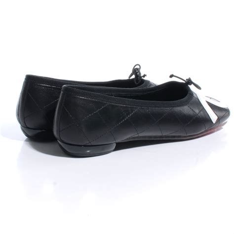 Chanel Quilted Ballet Flats by Chanel Leather Quilted Cambon Cc Ballet Flats 9 5 Black 49430