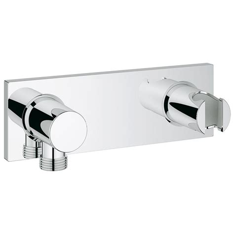 Grohe Rainshower Wall Shower Holder 27074000 grohe grohtherm f wall mount union with integrated