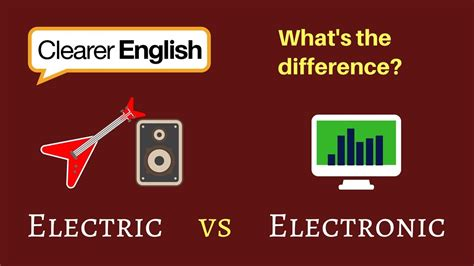 clearer english vocab electric  electronic youtube