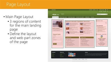 sharepoint page layout zones planeaci 243 n de intranet con sharepoint
