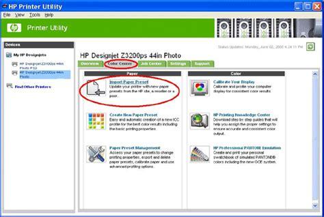 hp web software profils icc hp