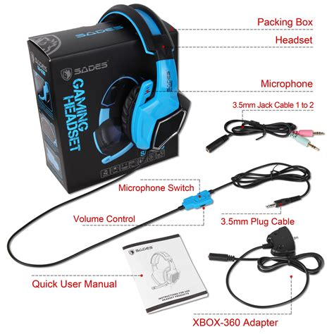 Headphone Pc Gaming sades gaming headset stereo headphone 3 5mm wired w mic for ps4 xbox pc xboxone ebay
