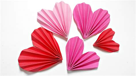 Craft Paper Hearts - origami 3d for decoration diy crafts paper hearts