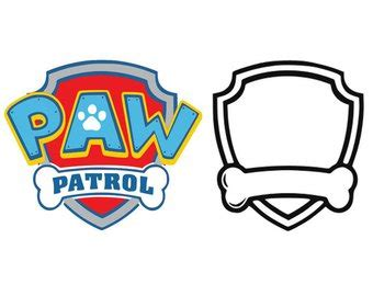 Paw Patrol Party Etsy Paw Patrol Shield Template