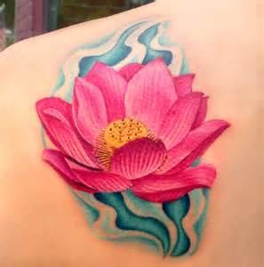 Lotus Flower Shoulder 65 Lotus Flower Designs That Is Of Meanings
