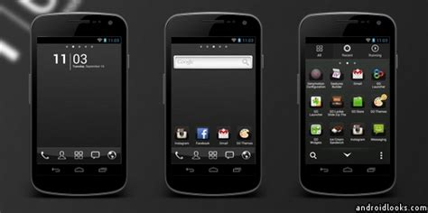 themes for android chrome black chrome android theme for go launcher androidlooks com