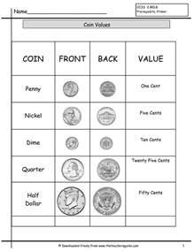 coin recognition worksheets for kindergarten