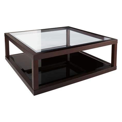 black wood coffee glass and wood coffee table modern coffee table glass