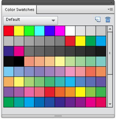 color panel grab color from the photoshop elements color swatches