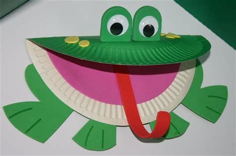 Frog With Paper - paper plate frog craft template search kid