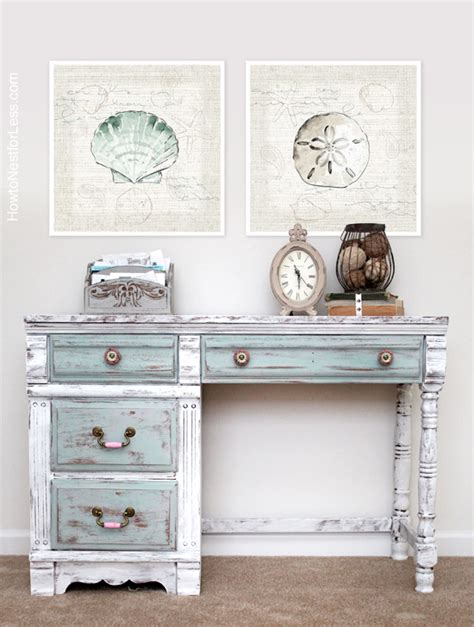 Paris Bedroom Decorating Ideas by Distressed Chalk Paint Desk Makeover How To Nest For Less