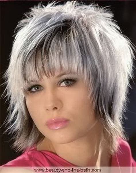 shagy short with silver highlights haistyles short shag hair styles