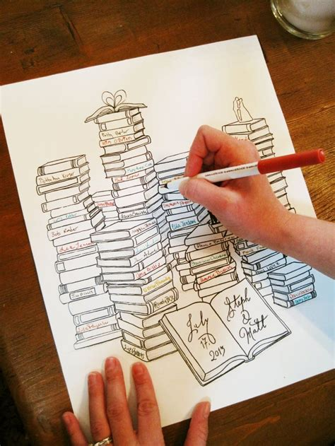 Personalized Wedding Guest Book Alternative, Book Lovers