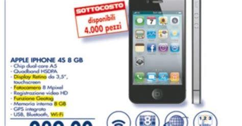 fotocamera interna iphone 4s offerta iphone 4s 8gb a prezzo sottocosto da esselunga con