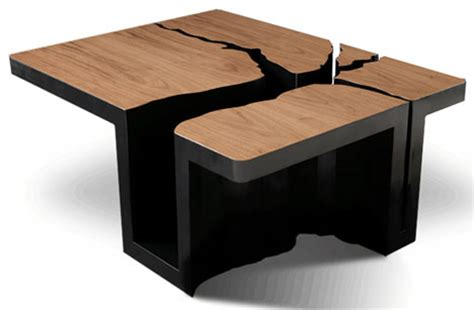 tables design simply extruded tree coffee table design
