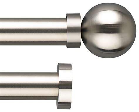 contemporary curtain rods stainless steel stainless steel curtain pole range dia 30mm modern