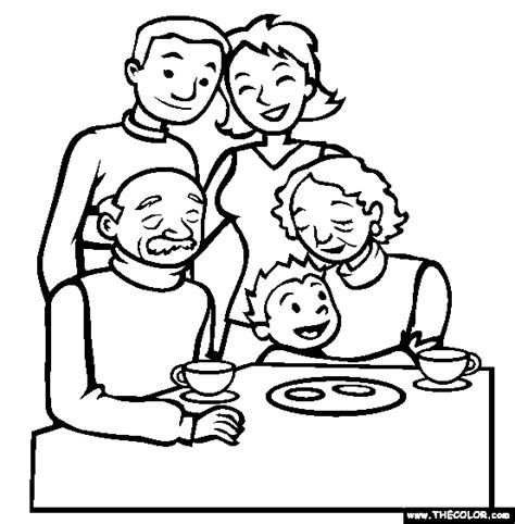 Free Coloring Pages Of My My Family Family Coloring Page