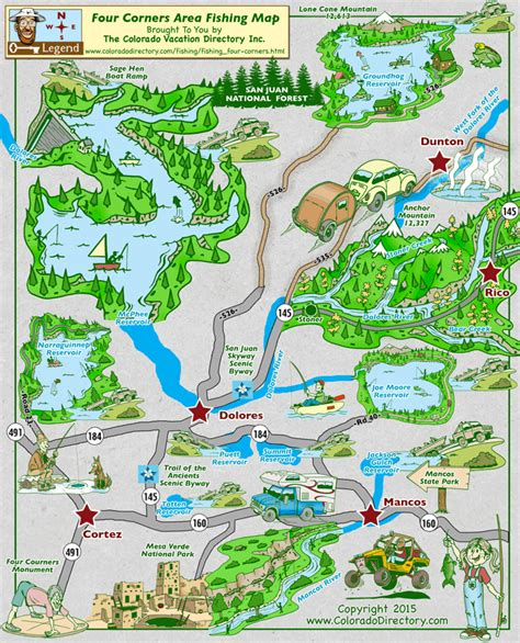 southwest colorado fly fishing map four corners area fishing map colorado vacation directory