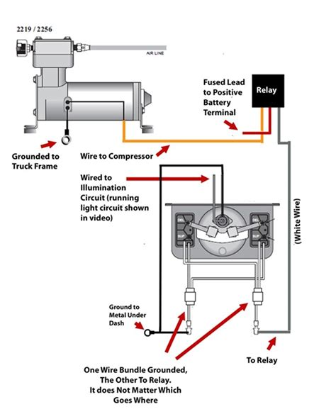 wiring diagram for firestone level command ii on board
