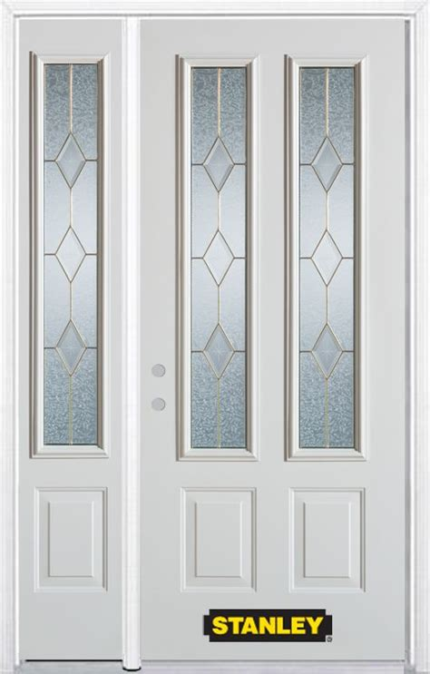 stanley exterior doors stanley doors 50 in x 82 in 2 lite 2 panel pre finished