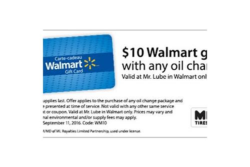 walmart oil coupons 2018